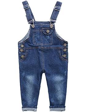 ARAUS Niños Mono Vaquera Overalls Pantalones de Peto Jeans Pants para Bebé Pequeños Primavera, 1-7Años