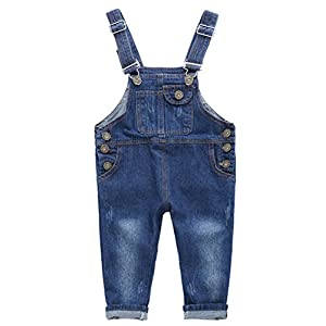 Odziezet Pichi Pantalones de Petos Niños Niñas Vaquero Azul Primavera Verano Otoño 1-7 años 5