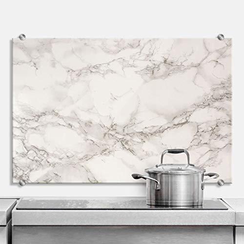 Spritzschutz Marmor 01 Küche Küchenrückwand Stein Gestein Naturstein mit Wandhalterung Wall-Art - 60x40 cm