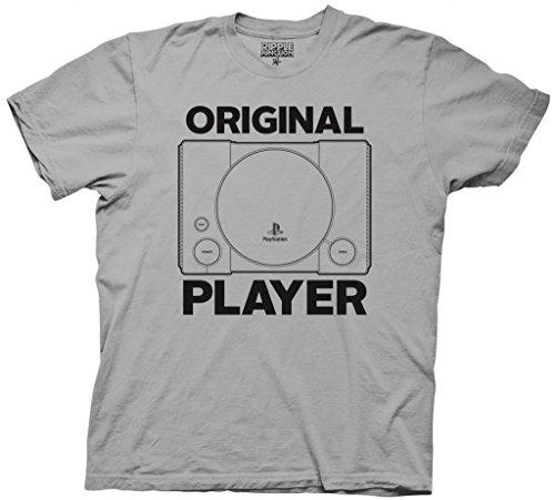 Preisvergleich Produktbild PlayStation Original Player Erwachsene Silber T-Shirt (XXX-Large)