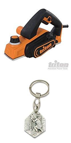 Triton Mini-Elektrohobel, 60 mm, TMNPL (929977516283) mit Anhänger Hlg. Christophorus