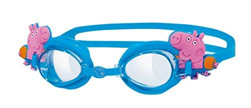 Zoggs Kinder-Schwimmbrille, Design George Pig, verstellbar Anti-Fog –Blau, 6Jahre