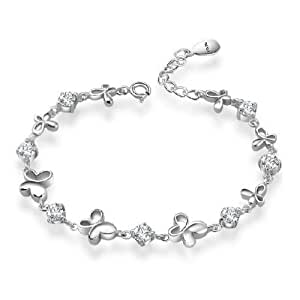 Rarelove Platinum White Gold Plated Sterling Silver 925 ...