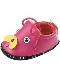 Neonato Flats Scarpe Fumetto Cane Anti-Scivolo Camminatore Calzature Morbide Bottom Sneaker (Giallo, 3 mesi)