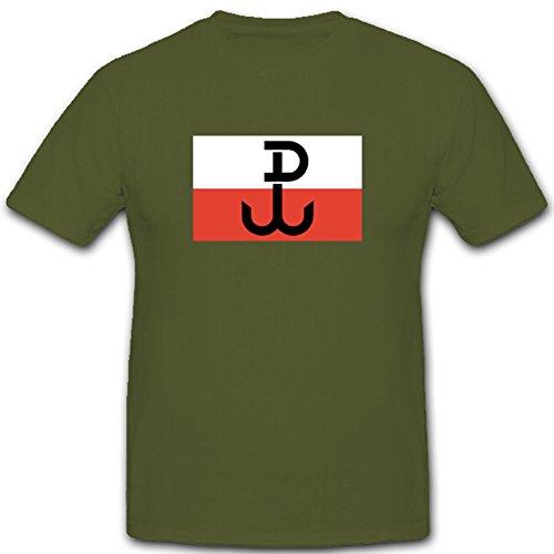 Wappen Abzeichen Fahne Flagge Polen Armee Emblem Polska- T Shirt #3302, Farbe:Oliv, Größe:Herren M -