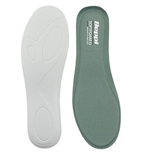 Beppi Softfoam Antibakterielle, weiche Einlagesohle mit Memory Gel, perfekt fürs Wandern, unterstützt beanspruchte Füße, Grau, Größe 41