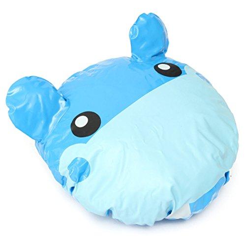 Bluelover Dibujos Animados De PVC Ducha Animal Tapa Baño Sombrero Pelo Cubierta Protector A Prueba De Agua-Hipopótamo