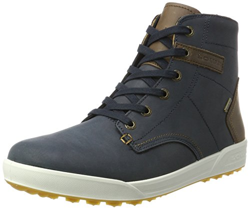 Lowa Herren London II GTX QC Hohe Sneaker, Blau (Navy/Brown), 44.5 EU