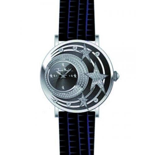 Thierry Mugler 4710104 - Reloj analógico de cuarzo para mujer con correa de piel, color negro