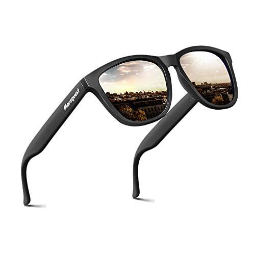 MARSQUEST Sonnenbrille Herren - Original UV400 Modell Newton Sonnenbrille Polarisiert, UV-Schutz, 7 Schutz-Schichten, Leicht, Stoßfest, Kratzfest Sonnenbrill Verspiegelt für Unisex
