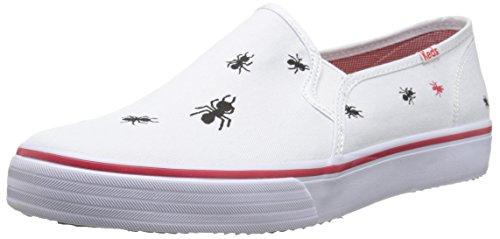 Keds Women's Double Decker Picnic Slip-On Sneaker, White, 11 M US