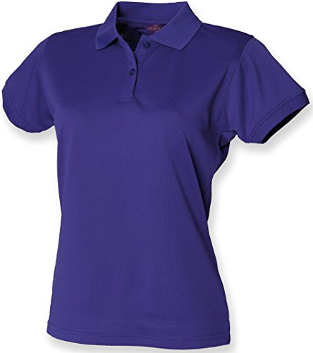 Henbury Damen Coolplus Polo-Shirt / Polohemd, (XS) (Kräftiges Pink)