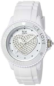 ICE-Watch - Montre femme - Quartz Analogique - Ice-Love - White - Small - Cadran Blanc - Bracelet Silicone Blanc - LO.WE.S.S.10