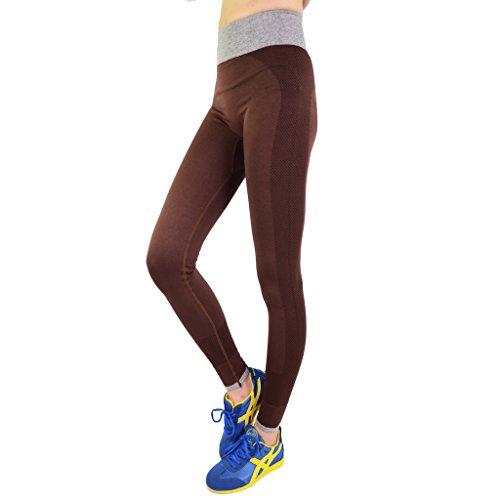 Hikerway Damen Yoga Hausarbeit Flexible Sport Hose Coffee L Größe - Braun Large Rolling Luggage