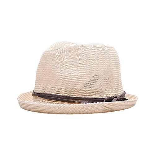 Chapeau Borsalino pour Printemps Eté Hommes Garçons Chapeau Fedora Couleur Unie Ultra Respirant Chapeau de Soleil