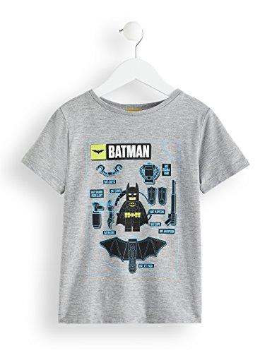 o Batman T-Shirt, Grau (Grey Marl 001), 110 (Herstellergröße: 5 Jahre) ()