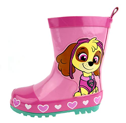 Paw Patrol Wellington Boots Kids Pink Skye Snow Rain Boots Wellies Shoes Kids