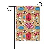 Dozili Flagge Special Japan Elements Muster Home Dekoration Garten Flagge wetterfest & doppelseitig Hofflagge, Polyester, bunt, 12.5