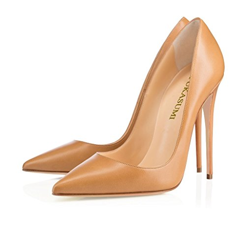 EDEFS Damenschuhe Faschion SUKaite 120mm Spitzschuh klassische Partei dünne Pumps Stiletto Schuhe Mud