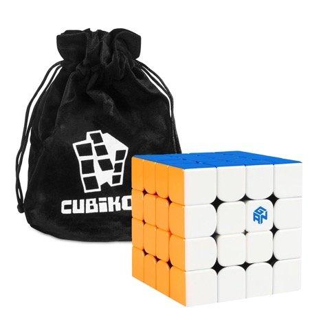 Cubikon GAN 460 M Stickerlos - Zauberwürfel mit Magnition - GAN460 M - 4x4 Speed Cube Gans 460 Magnetic (GAN460M) - inkl Tasche -