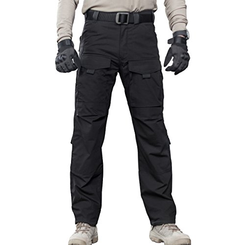 Handy Arbeit Hose Khaki (FREE SOLDIER Outdoor Herren Multi Taschen jeder Jahreszeit Hose Cargo Pants (schwarz XL))