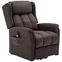 ZOY Fabric Lift-Up Recliner, L6580A-51, Chocolate (Valerie), H70 x W76 x D80 cm