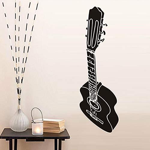 Gitarre Wandaufkleber Aufkleber Kinderzimmer Wohnzimmer Schlafzimmer Dekoration Vinylkleber 3D Tapete Abnehmbare Poster a4 41 * 133 cm