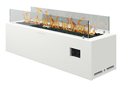 muenkel Diseño Spirit [Gas Brasero Exterior]: bombona de gas (propano, butano)–con Mando a distancia–Color Blanco (Luz Blanca Cálida)