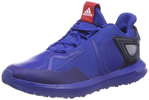 Adidas rapidarun spider-man k, scarpe da fitness unisex-bambini, blu (reauni/escarl/maruni 000), 34 eu