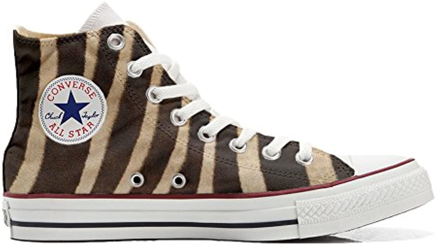 Shoes Custom Converse All Star  personalisierte Schuhe (Handwerk Produkt) zebra