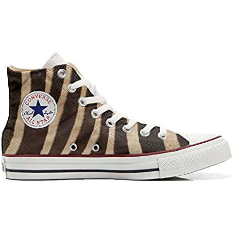 Converse All Star zapatos personalizados (Producto Artesano) cebra