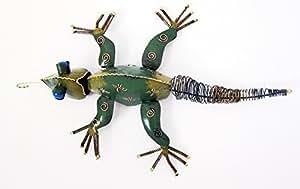 Trois dimensions acier Décoration/Art Sculpture murale en forme de caméléon lézard iguane
