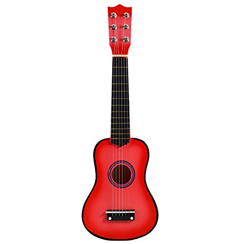 STOBOK Guitarra Acústica de Madera para Niños Portátiles Instrumento Musical para Niños Niños 21 Pulgadas (Rosa)
