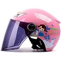 YAHAMA Casco Integral Niños Casco Protector Facial para Moto Casco Infantil – Casco Infantil, 48