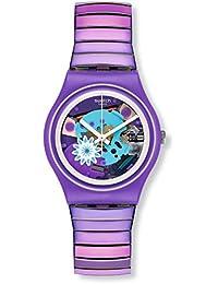 Swatch Reloj Digital para Mujer de Cuarzo con Correa en Acero Inoxidable GV129B