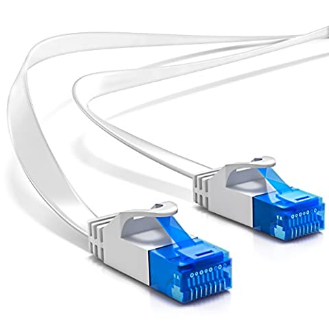 deleyCON 25m CAT6 flat network cable U-UTP RJ45 CAT-6 gigabit ethernet LAN UUTP patch cable copper switch router modem repeater patchpanel -