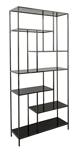 Casa-Padrino Armario de la estantería de Lujo 98 x 35 x H. 210 cm - Muebles de Sala de Diseño