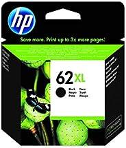 HP 62XL C2P05AE, Negro, Cartucho de Tinta de Alta Capacidad Original, compatible con impresoras de inyección d