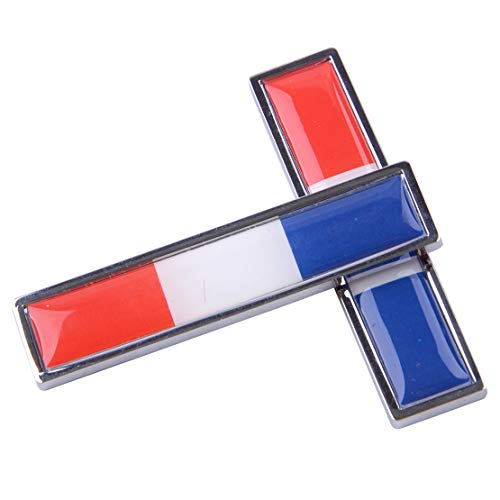 CITALL 2 Stück Legierung Auto Französisch Flagge 3D Dekorative Aufkleber Badge Abziehbild Emblem Logo Schilder -