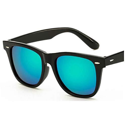 YOGER Sonnenbrillen Mode Unisex Schwarzes Quadrat Sonnenbrille Retro Green Shades Sonnenbrille Weiblich Männlich Trendy Klassisch Frauen Mann