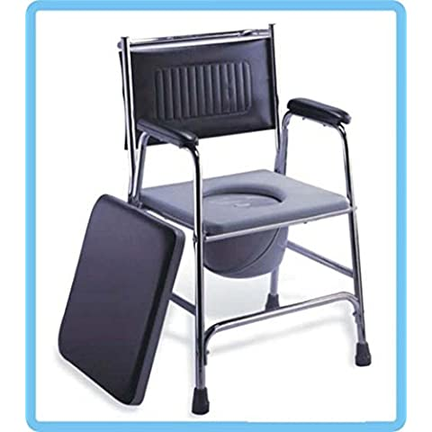 Modylee Sedie a rotelle da bagno COMODA WC Di alta qualità in pelle WC sedile del water vasino sedia WC feci persone anziane con disabilità