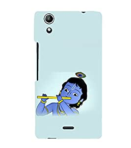 printtech Lord God Krishna Small Cartoon Back Case Cover for Micromax Canvas Selfie Lens Q345