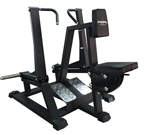 Primal Strength Alpha Commercial Fitness Elite ISO Dos complet rangée Mat Nero/GRIGIO