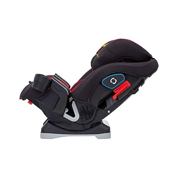 Graco SlimFit All-in-One Car Seat, Group 0+/1/2/3, Fiery Red Graco 3 in 1 car seat can be used from birth up to 36 kg (approximately 12 years). rearward facing for longer from birth to approx. 4 years (0-18kg) Easily converts to and from the three riding positions; rear-facing harnessed seat (0-18kg), to forward-facing harnessed seat (9-18kg) and to high back booster (15-36kg) True shield safety surround side impact protection for enhanced safety 3