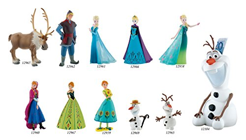 Disney Frozen Figura Elsa, Color Azul/Patchwork (Bullyland 12961)