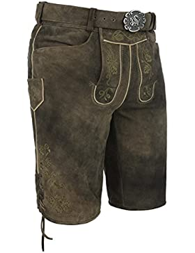 Michaelax-Fashion-Trade Spieth & Wensky - Herren Trachten Lederhose mit Gürtel, Franzl (011539-0256)