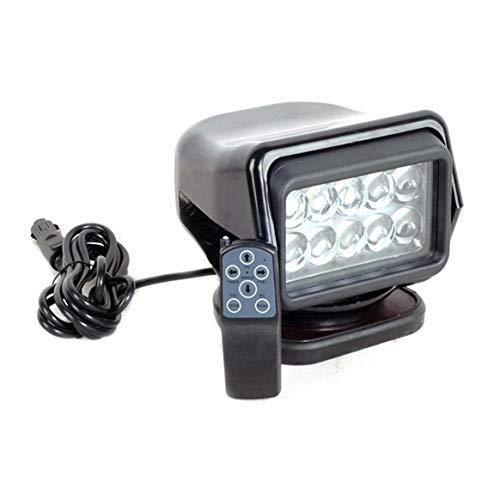 50W Scheinwerferlicht-Fernsteuerungs-super helles Suchscheinwerfer-wasserdichter 360 ° im Freienscheinwerfer für LKW-Marineauto - Schwarzes