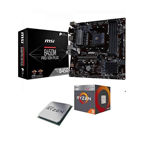 Memory PC Aufrüst-Kit AMD Ryzen 3 2200G AM4 QuadCore Summit Ridge 4X 3.6 GHz, 16 GB DDR4, MSI B450M Pro-VDH Max, komplett fertig montiert und getestet