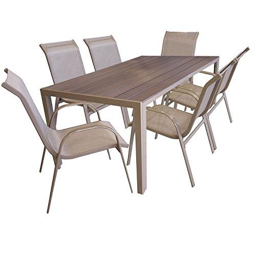 7tlg Sitzgarnitur Sitzgruppe Gartenmöbel Set Aluminium