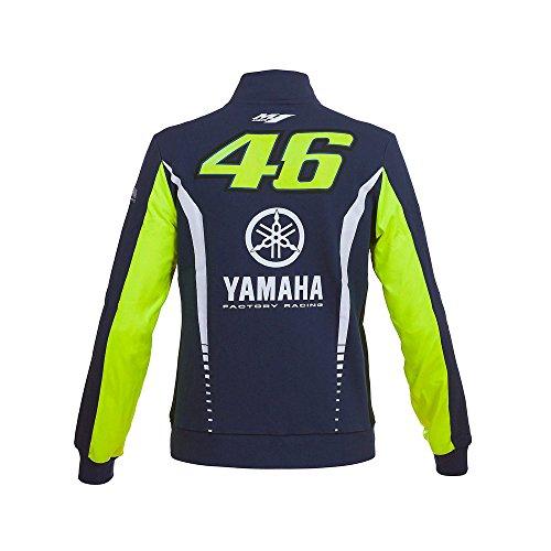 Sweat Femme Valentino Rossi zipé VR46 M1 Yamaha Racing Team Moto GP officiel Racing Blue Bleu